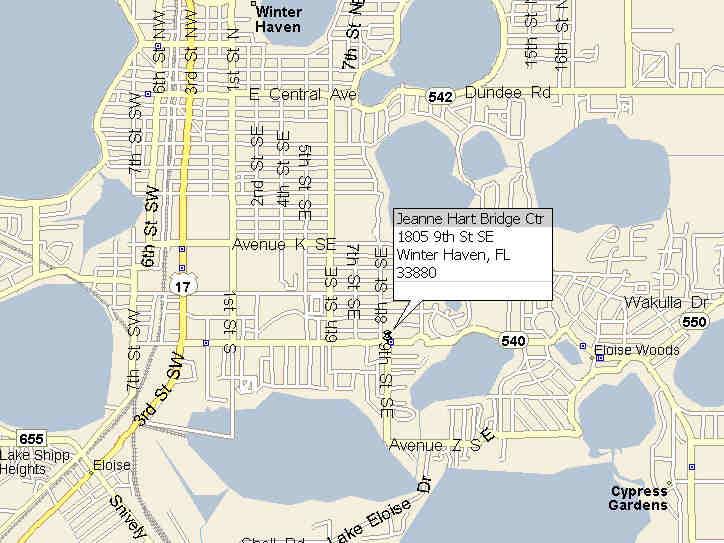 map for winter haven bridge center. Black Bedroom Furniture Sets. Home Design Ideas